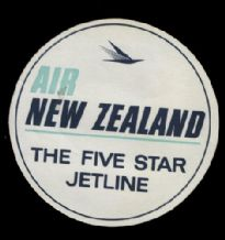 Airline luggage label New Zealand Air line #315